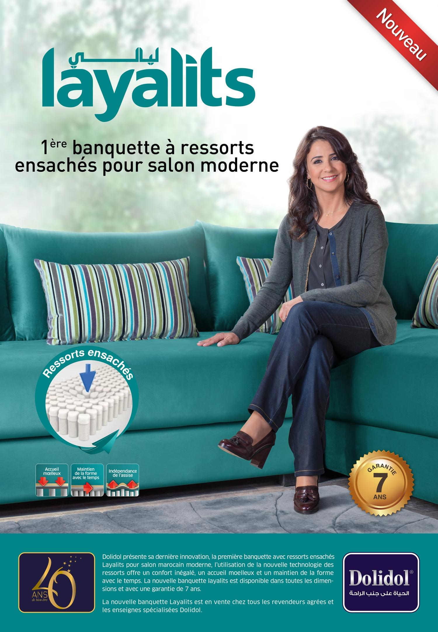 Salon Marocain Maroc Prix dolidol lance un nouveau salon a ressorts ensaches layalits